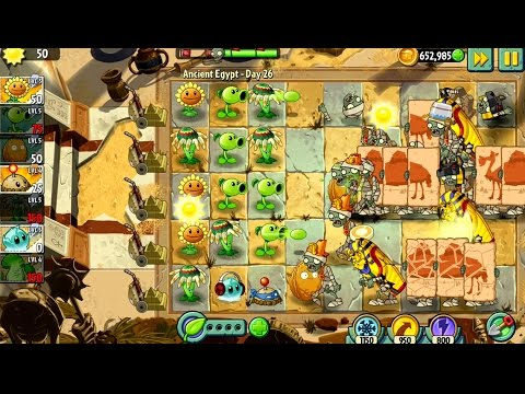 Plants vs Zombies 2 Ancient Egypt Day 25 26 Android iPad iOS Gameplay #10