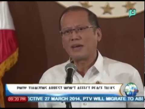 [NewsLife] President Aquino: Tiamzons Arrest won't affect peace talks