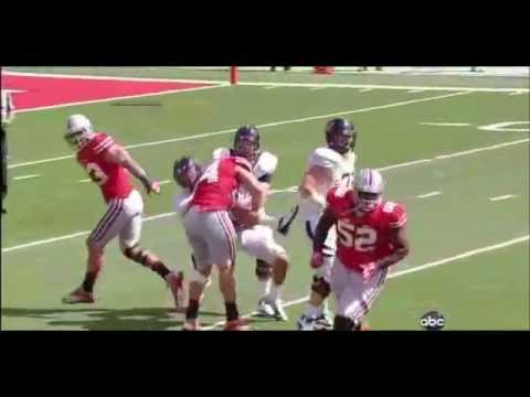 John Simon - Ohio State Football - DE - 2012 Cal Game
