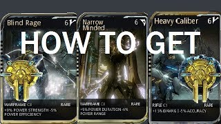 Warframe How To Get Corrupted Mods (Orokin Vaults)
