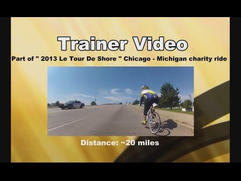 Bike Trainer Video 11 - Indoor Cycling Training ( Le Tour De Shore )
