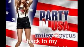 Party In The USA Miley Cyrus Letra
