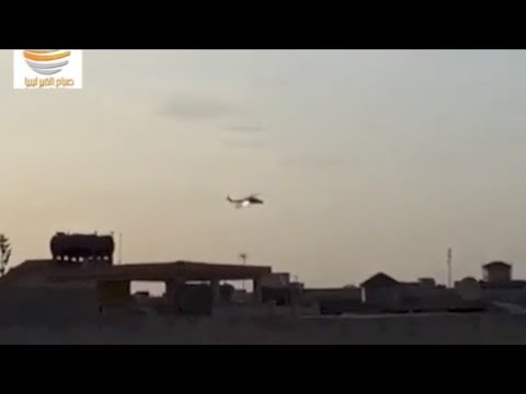Libyan army helicopter attacking armed militias positions in Benghazi 02-06-2014 #2