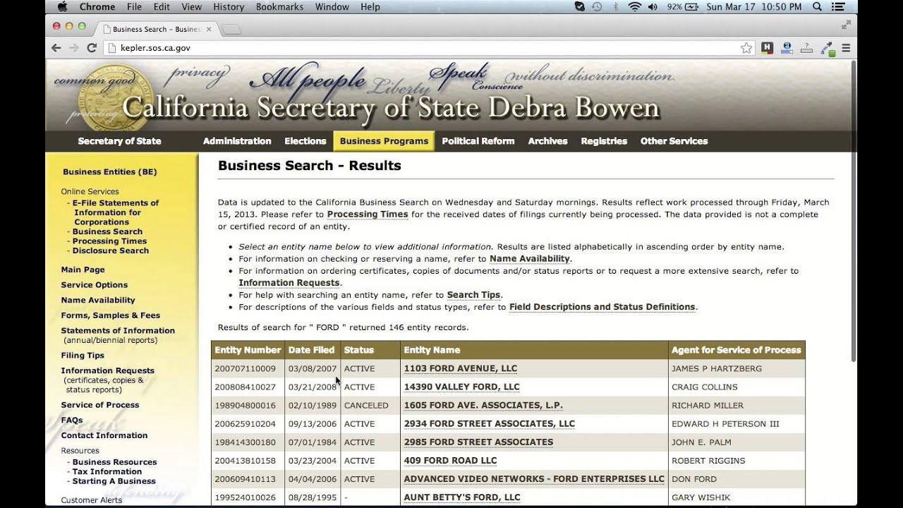 Taxable Entity Search