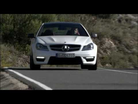 New Mercedes C63 AMG Coupe 2012 Driving