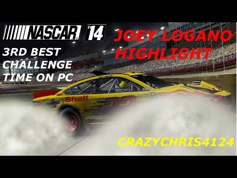 NASCAR 14: Joey Logano Highlight, 3rd Best Time on PC (MAXED 1080p)