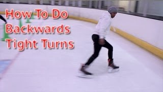 How To Do Backwards Hockey Tight Turn Learn Backwards