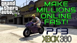 """GTA 5 Online: How To Make MILLIONS Fast"" (WORKS ON PS3"