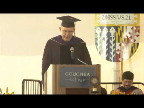 John Bond presents Barbara Mikulski at Goucher Commencement 2014