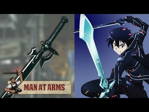 Man at Arms creates Kirito's Elucidator,