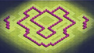 Clash Of Clans TH6 Farming Base (TheDragon) Anti Giants