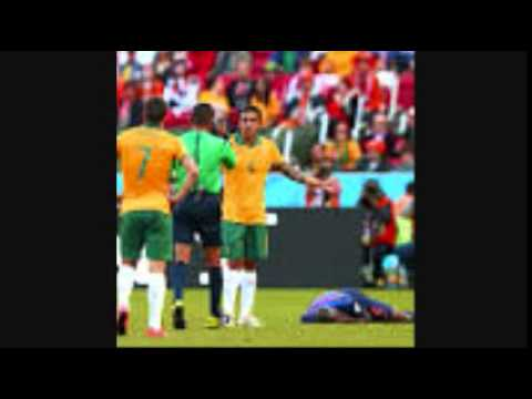 Australia 2 Netherlands 3 Bruno Martins injured World cup 2014