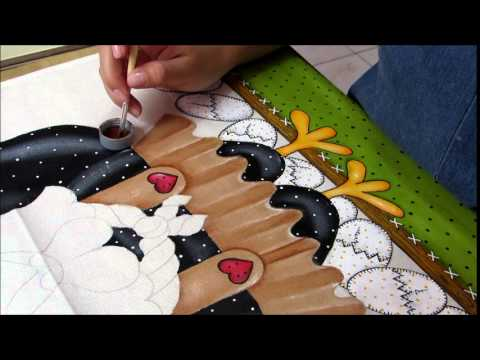 Pintura em tecido: Galinha d' Angola Country P- 5