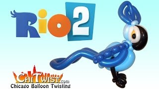 How To Make Blu From Rio 2 Balloon Animal ChiTwist