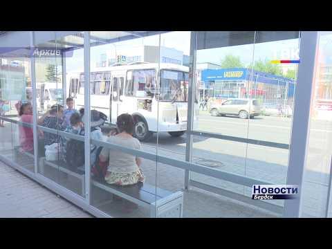 Остановочный павильон на универмаге пострадал от вандалов в Бердске