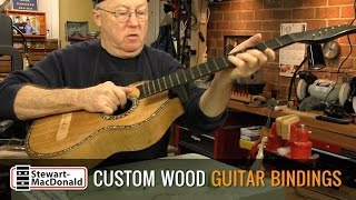Watch the Trade Secrets Video, Custom walnut bindings for an 1800s German guitar