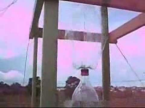 Catavento giro horizontal - torre vertical com garrafas pet