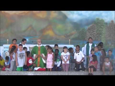 Oração pela Paz - Padre José e crianças do Projeto