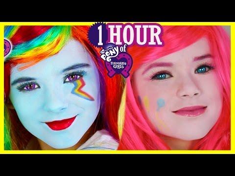 1 HOUR My Little Pony Makeup Tutorials & Play Doh! Rainbow Dash Equestria Girl Doll | Kittiesmama