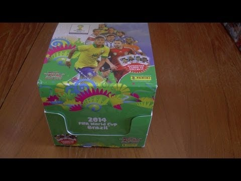 UNBOXING BOOSTER BOX (70 packs!) ADRENALYN XL 2014 FIFA WORLD CUP trading cards panini