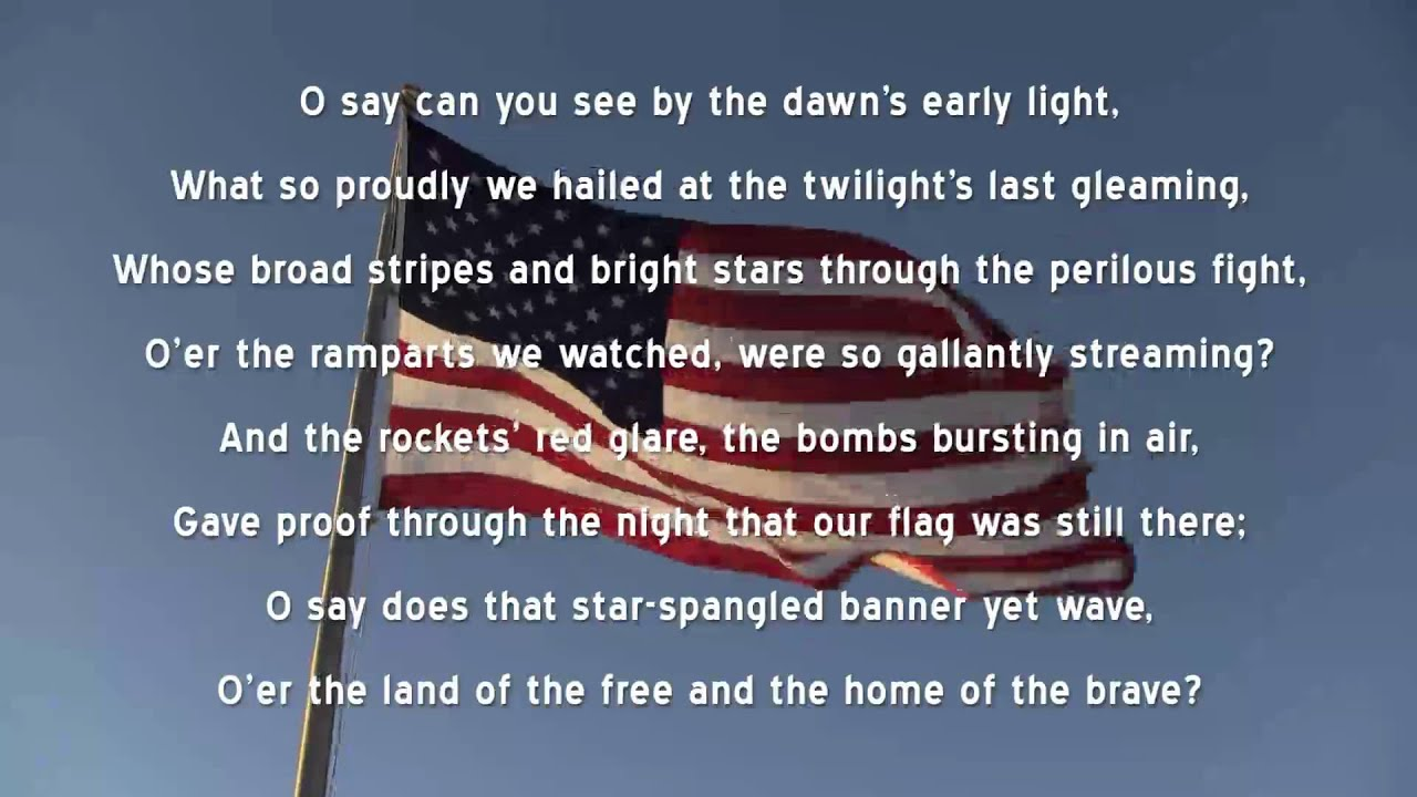 Intrepid image for words to the star spangled banner printable