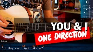 "Como tocar ""You & I"" - ONE DIRECTION - en Guitarra Acustica (HD) Tutorial COMPLETO"