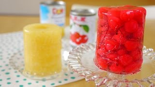 Whole Canned Fruit Jello 缶詰め丸ごとゼリー