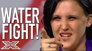 The Angriest Contestant Ever VS. Louis Walsh! | X Factor Global