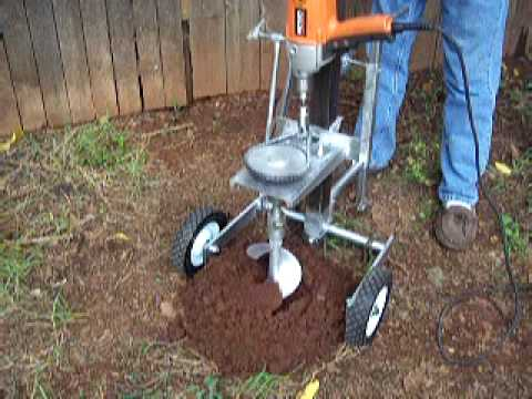 Drill Driven Posthole Digger Youtube