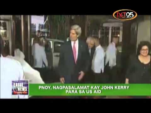 President Aquino Extends Gratitude to John Kerry For US aid