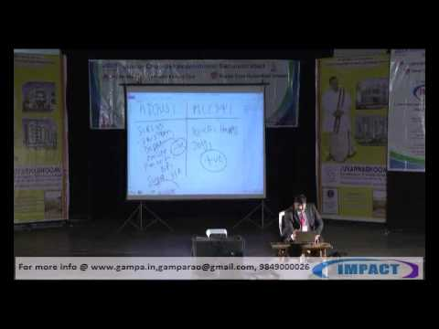 A Motivational Talk Part 1 by  GAMPA NAGESHWER RAO at IMPACT 2012 Hyderabad