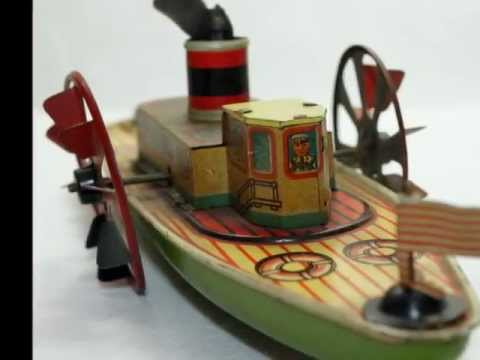 Vintage Toys: Tin Windup Tootsietoy Baby Car Boat Gun for January 26 2012