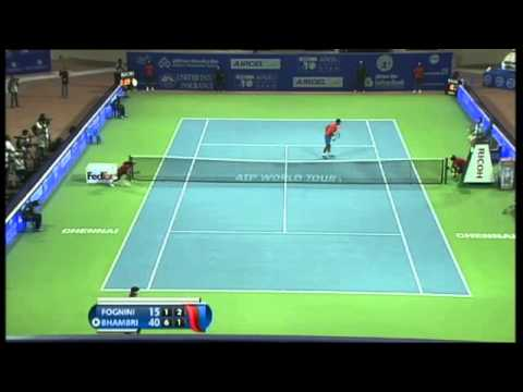 ACO 2014 - Day4: Match1 - F FOGNINI vs Y BHAMBRI