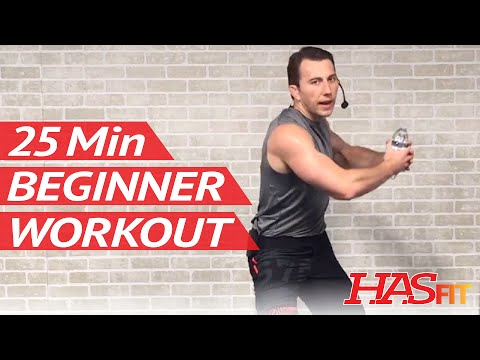 25 Min Beginner Workout Routine for Women & Men at Home - Workouts for Beginners without Weights