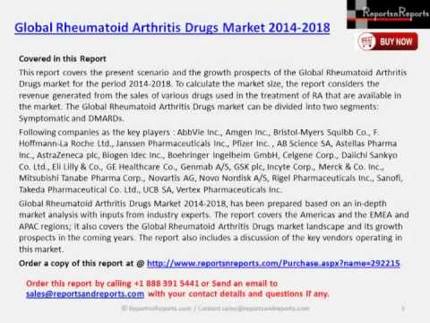 Global Rheumatoid Arthritis Drugs Market 2014 2018