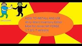 How To Install And Use All U Want Inventory Editor For