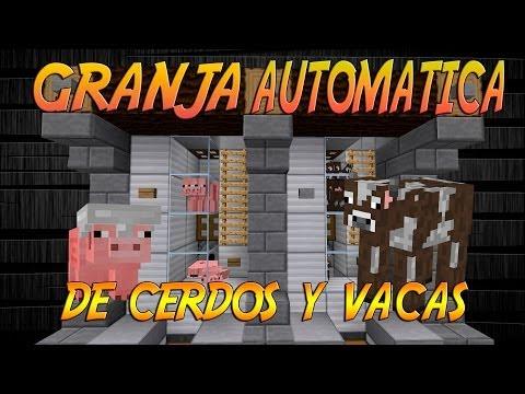   TUTORIAL REDSTONE   GRANJA DE CERDOS Y VACAS AUTOMATICAS 1.7.5