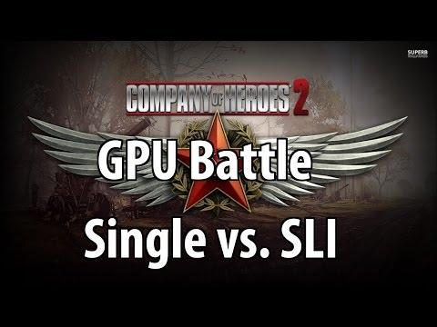 Company Of Heroes 2 Single GPU vs. SLI