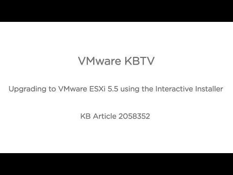 Upgrading to VMware ESXi 5.5 using the Interactive Installer