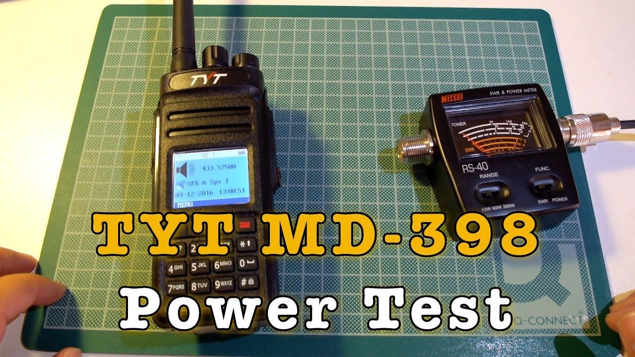 TYT MD 398 Power Test