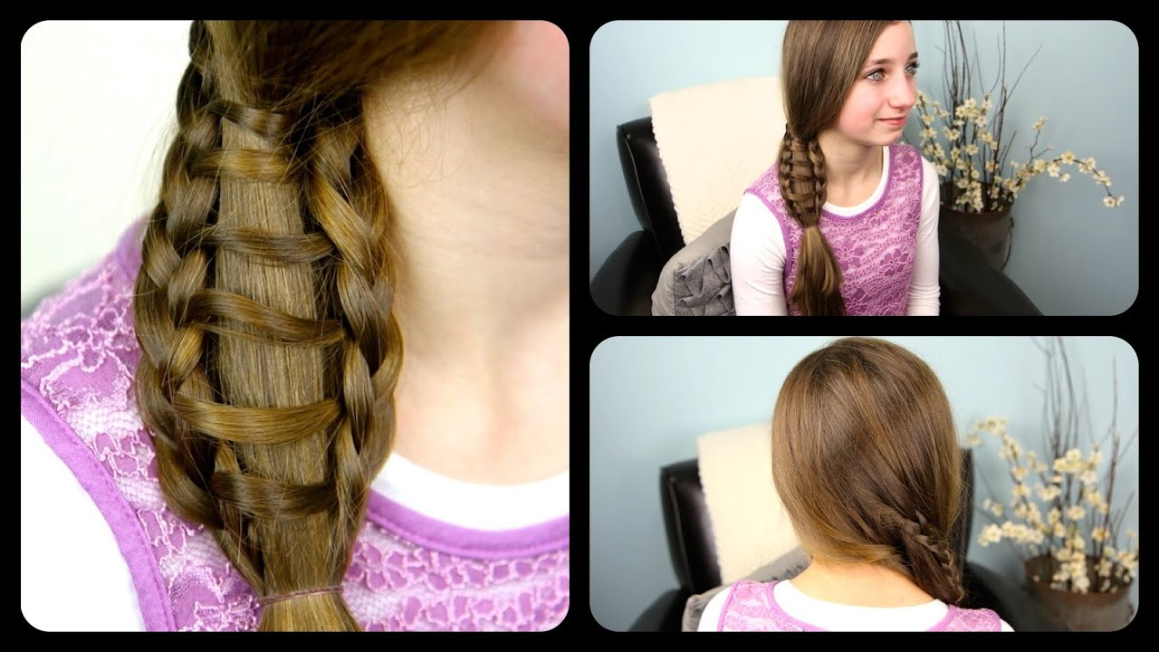 Ladder Braid Side Ponytail  Cute Girls Hairstyles - YouTube
