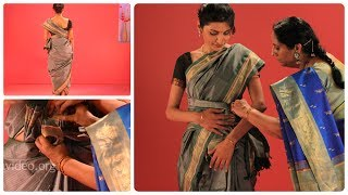 How To Wear A Saree In Ceylonese Dancer Style, India