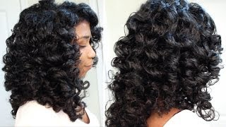 How To Cheat A Perm Rod Set EASY Technique Heatless Soft