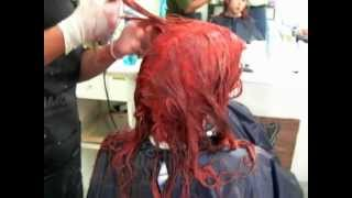 Black To Red Complete Hair Bleaching Tutorial Negro A