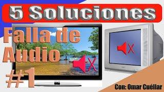 Arreglar fallas de audio en TV