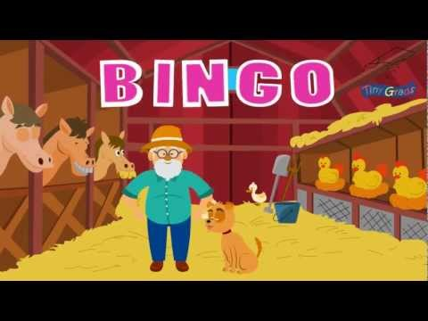 BINGO - There was a farmer who had a dog and Bingo was his name oh! Children's Songs