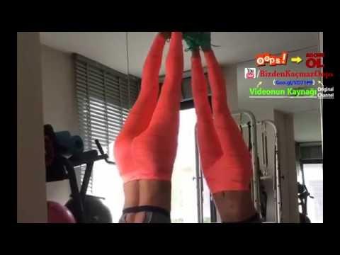 Ebru Şallı Tangalı Spor Yapıyor - Böyle Kalça Görülmedi !!!