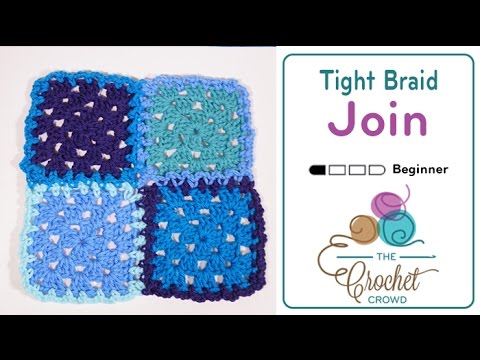 How To Attach Granny Squares - Method 2 - Continuous Join