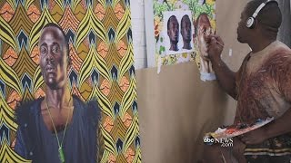 Kehinde Wiley Reimagines Classic Art   ABC News