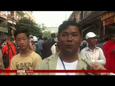 Phnom Penh rally ends in clashes